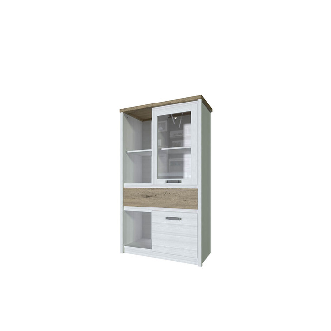 Шкаф с витриной «Provence» 1V1D1S3N