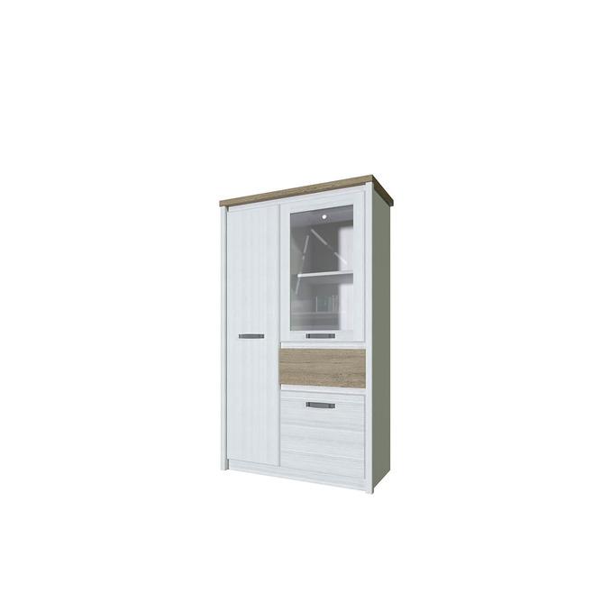 Шкаф с витриной «Provence» 1V2D1S