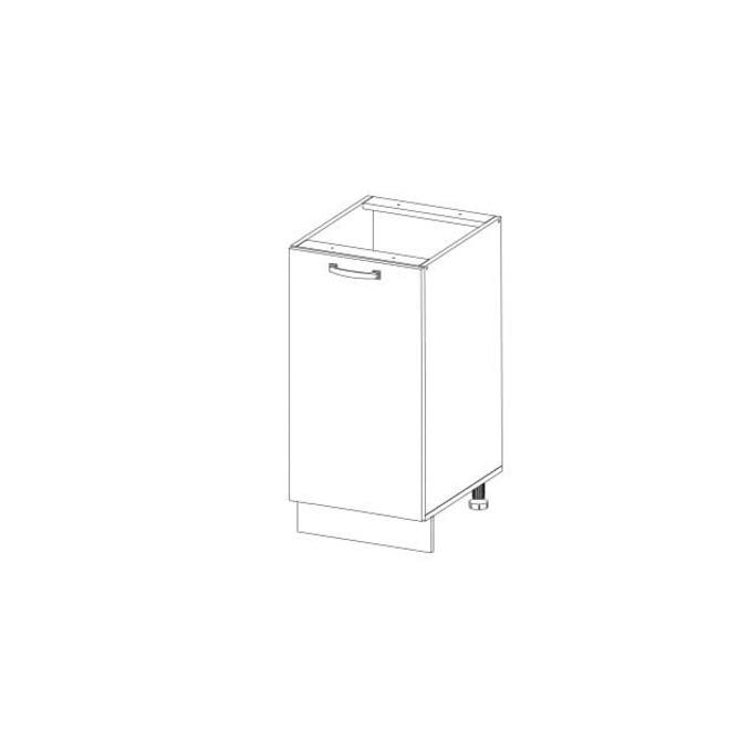 Кухонный шкаф-стол «Алеся» 1D/50-F1 - дуб анкона