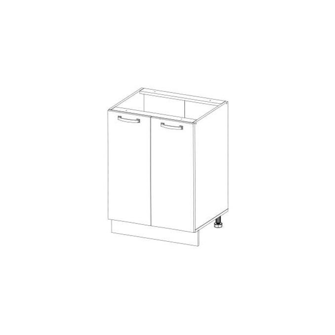 Кухонный шкаф-стол «Алеся» 2D/60-F1 - дуб анкона