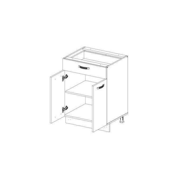 Кухонный шкаф-стол «Алеся» 2D1S/60 - дуб анкона