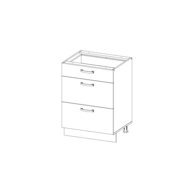 Кухонный шкаф-стол «Алеся» 3S/40 - дуб анкона
