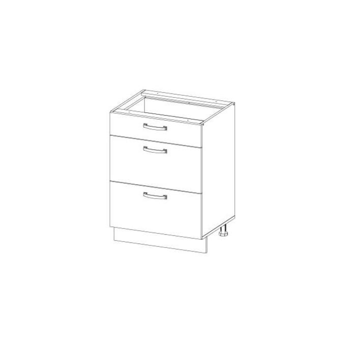 Кухонный шкаф-стол «Алеся» 3S/60 - дуб анкона