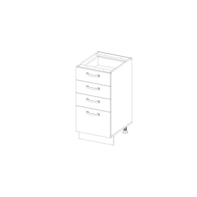 Кухонный шкаф-стол «Алеся» 4S/40-F1 - дуб анкона