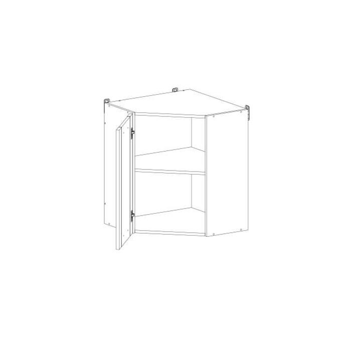Шкаф настенный «Алеся» 1DU/60-F1 - дуб анкона