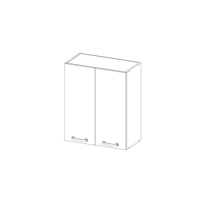Шкаф настенный «Алеся» 2D/80-F1 - дуб анкона