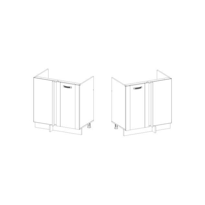Шкаф под мойку угловой «Алеся» 1D/80-F1 - дуб анкона