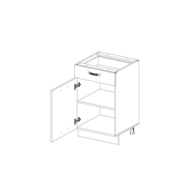 Кухонный шкаф-стол «Алеся» 1D1S/60 - сосна винтаж