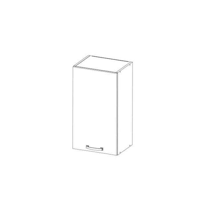 Шкаф настенный «Алеся» 1D/40-F1 - сосна винтаж