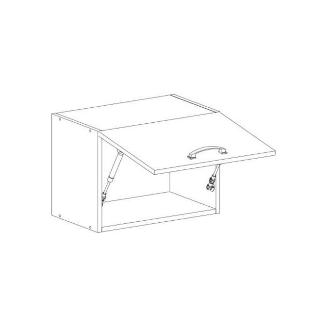 Шкаф настенный «Алеся» 1DG/50-F1 - сосна винтаж