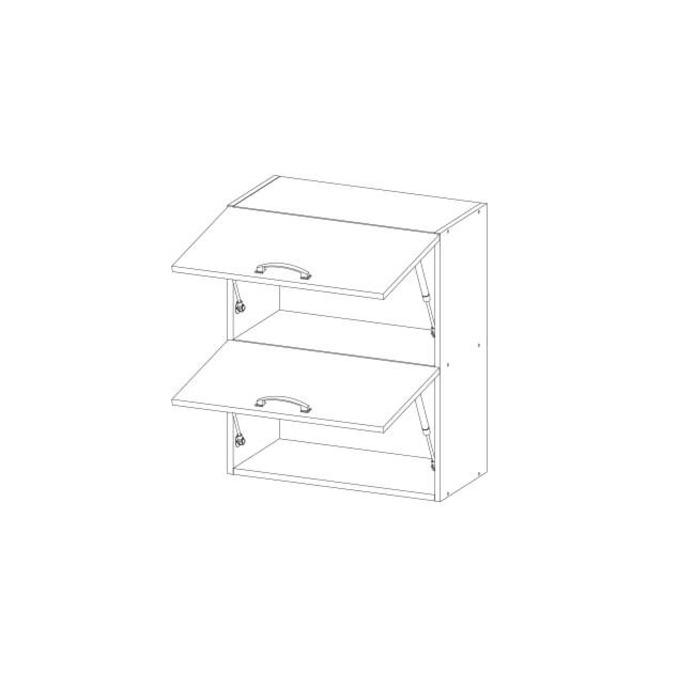 Шкаф настенный «Алеся» 2DG/60-F1 - сосна винтаж