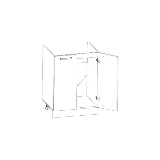 Шкаф под мойку «Алеся» 2D/60-F1 - сосна винтаж