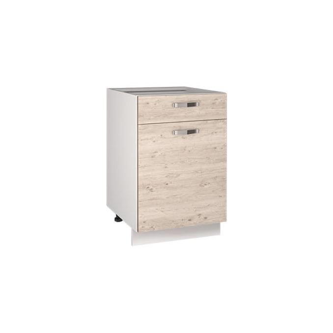 Кухонный шкаф-стол «Алеся» 1D1S/50 - сосна винтаж