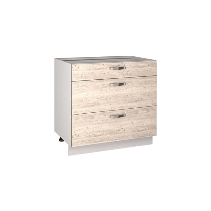 Кухонный шкаф-стол «Алеся» 3S/80 - сосна винтаж