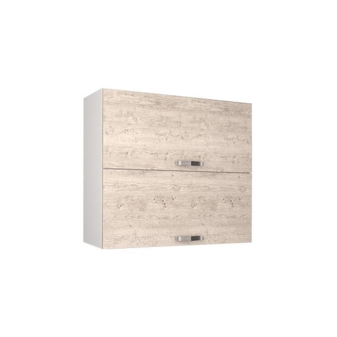 Шкаф настенный «Алеся» 2DG/80-F1 - сосна винтаж