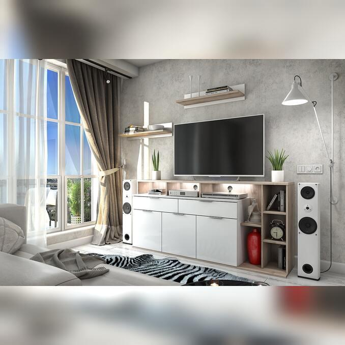 Модульная гостиная «Компакт» 4 белая