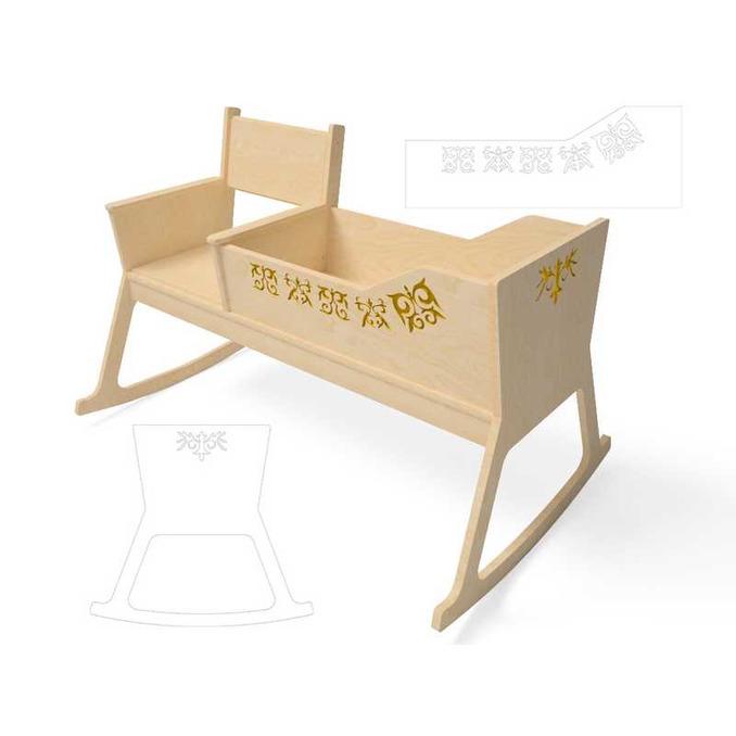 Кроватка люлька для новорожденных Кроша 2
