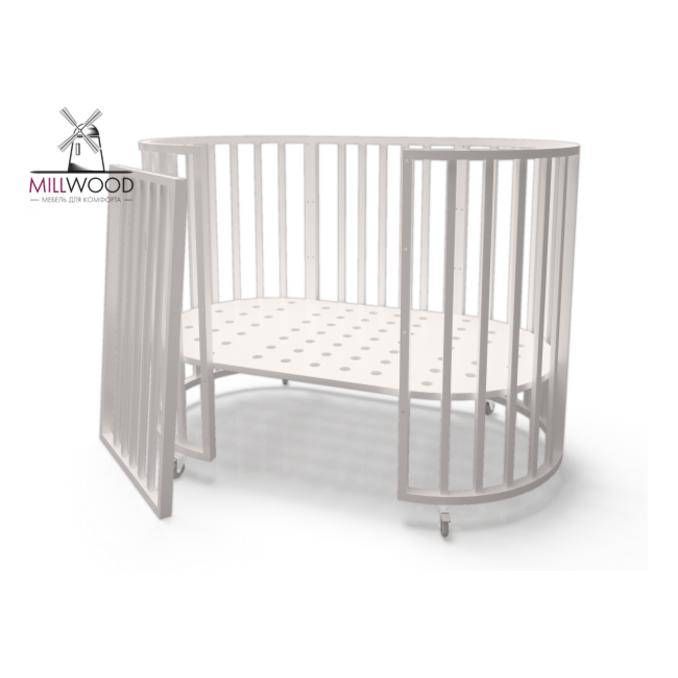 Детская кроватка Кроша 7 в 1 белая