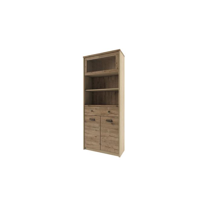 Шкаф-пенал открытый «Дизель» 1V2D1S2N/D1 с мини-витриной
