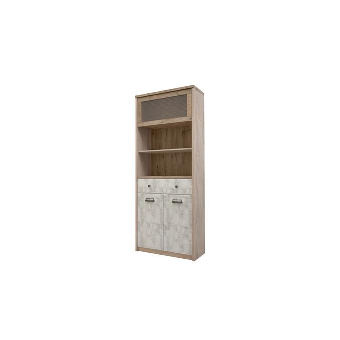 Шкаф-пенал открытый «Дизель» 1V2D1S2N/D2 с мини-витриной
