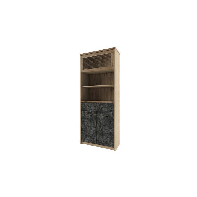 Шкаф-пенал открытый «Дизель» 1V2D1S2N/D3 с мини-витриной