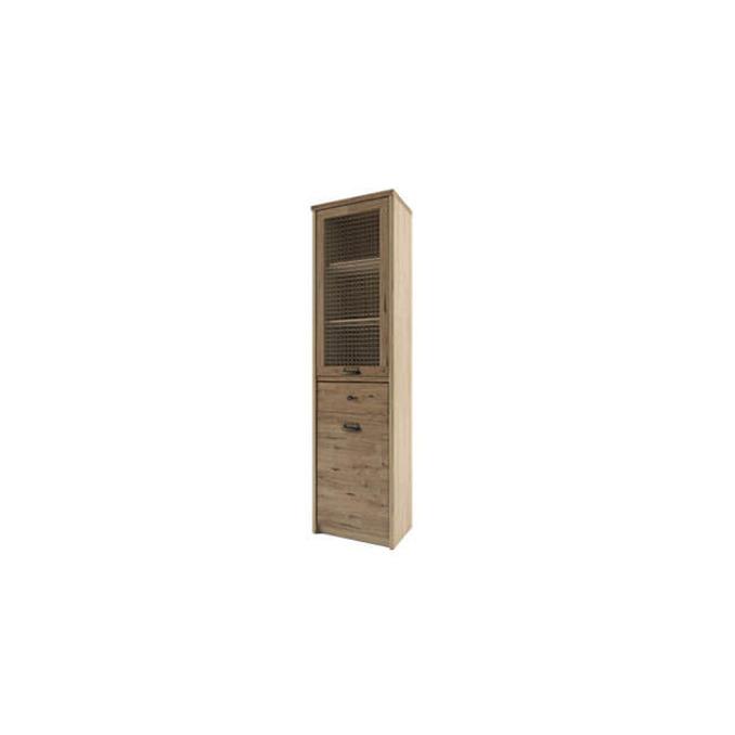Шкаф-пенал с витриной «Дизель» 1V1D1S/D1