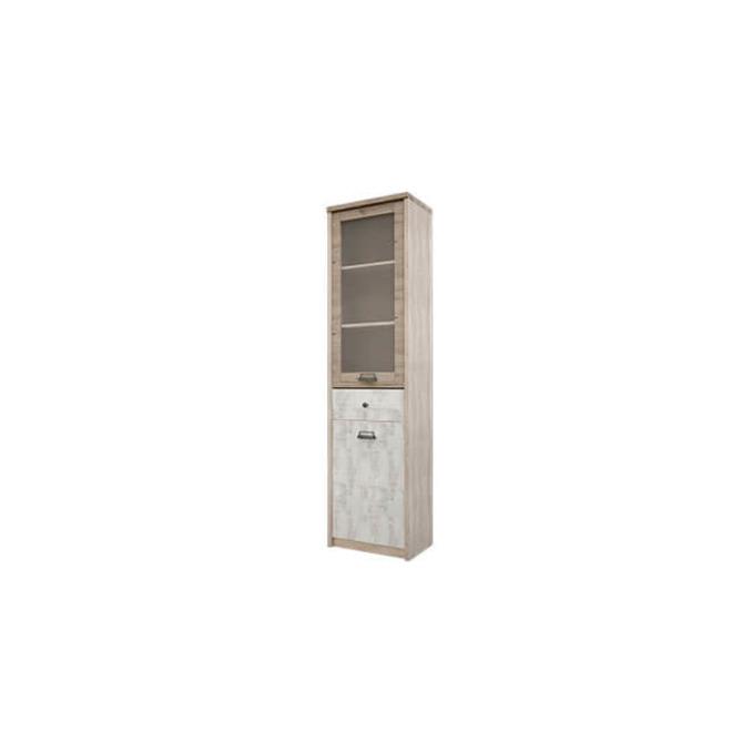 Шкаф-пенал с витриной «Дизель» 1V1D1S/D2
