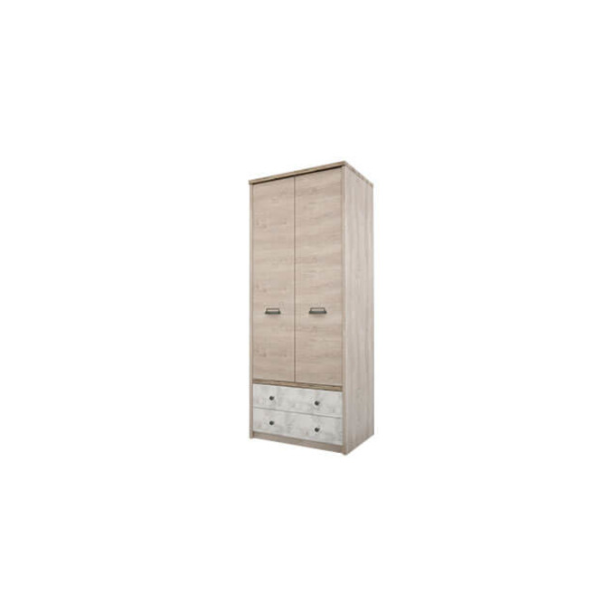 Шкаф «Дизель» 2DG2S/D2 двухстворчатый с ящиками