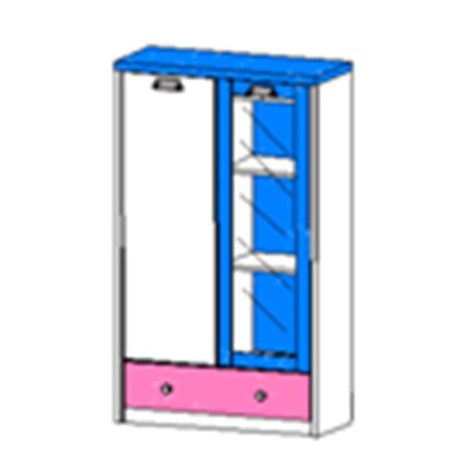 Шкаф комбинированный с витриной «Дизель» 1V1D1SL/D2 - верхний