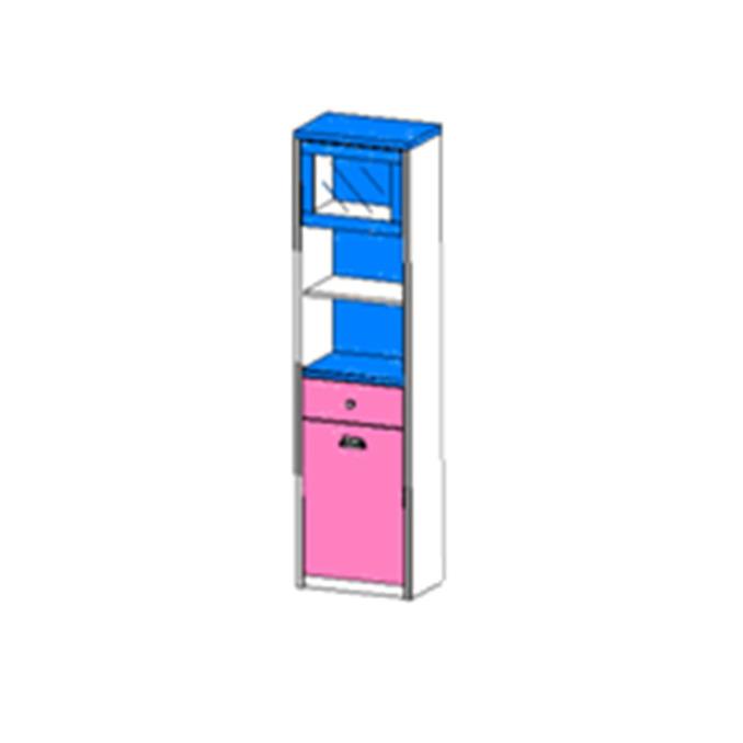 Шкаф открытый «Дизель» 1V1D1S2N/D1 с мини-витриной