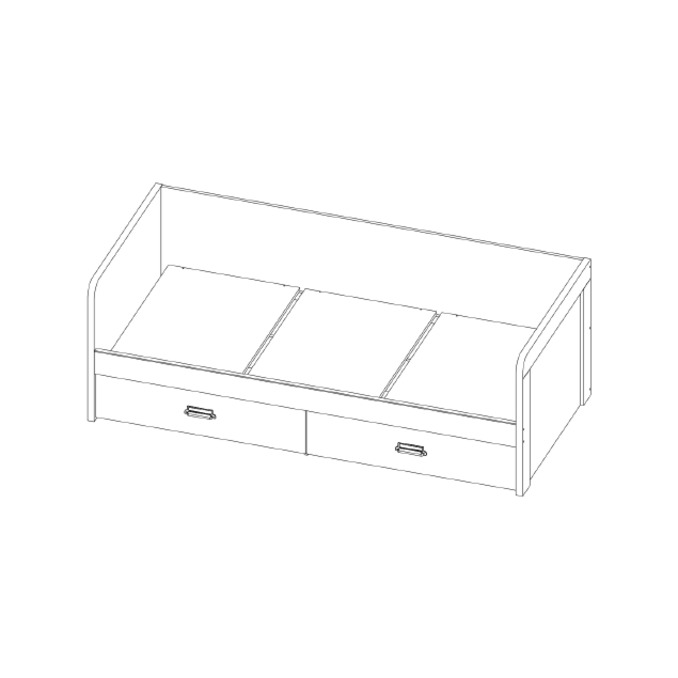 Кровать-тахта «Дизель» 90-2/D1 односпальная с ящиком