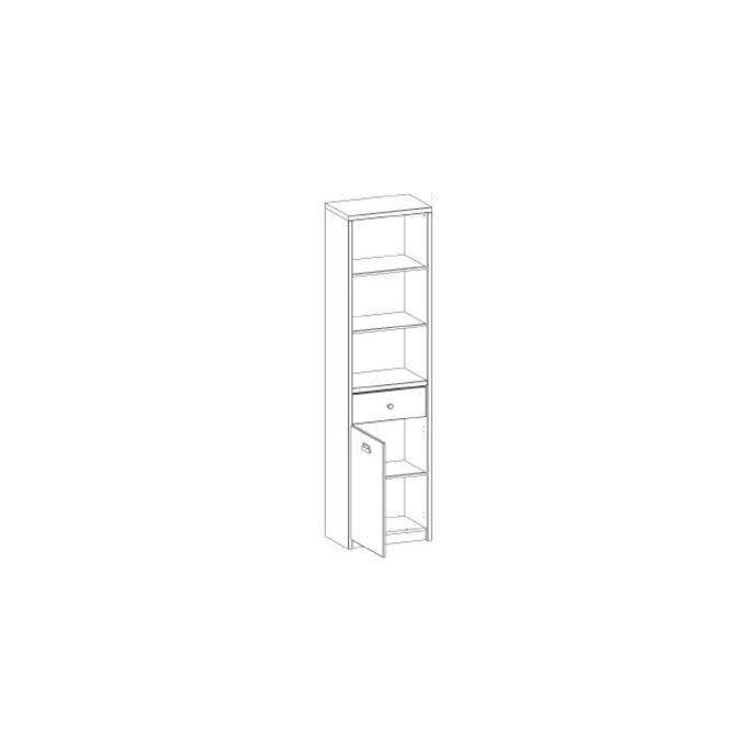 Шкаф открытый «Дизель» 1D1S/D1 с ящиком