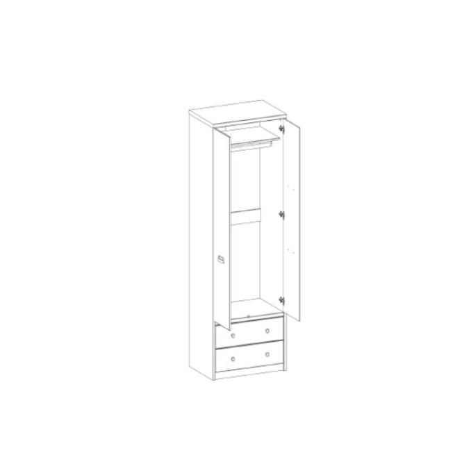 Шкаф «Дизель» 2DG2S/D1 двухстворчатый с ящиками