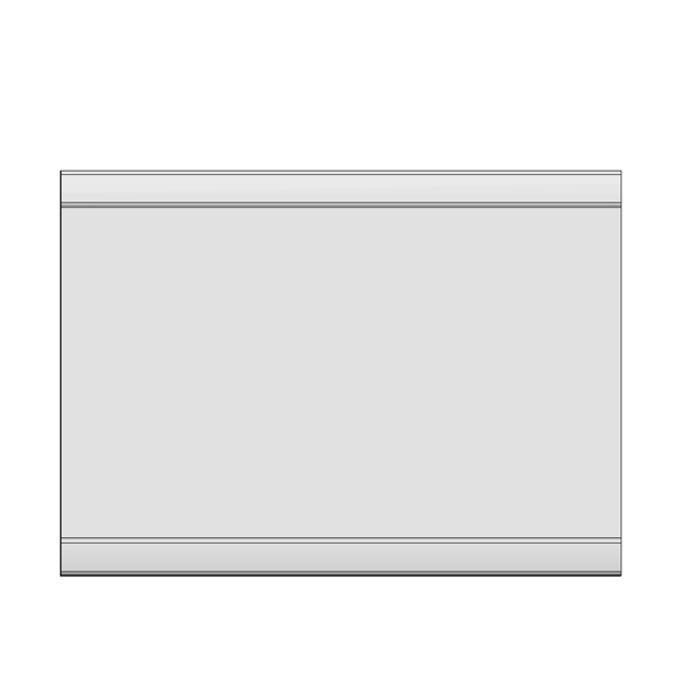 Зеркало настенное «Дюна» 90см - орех