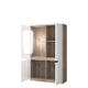 Шкаф с витриной «Эвора» 1V3D L
