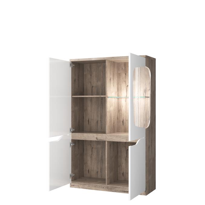 Шкаф с витриной «Эвора» 1V3D P
