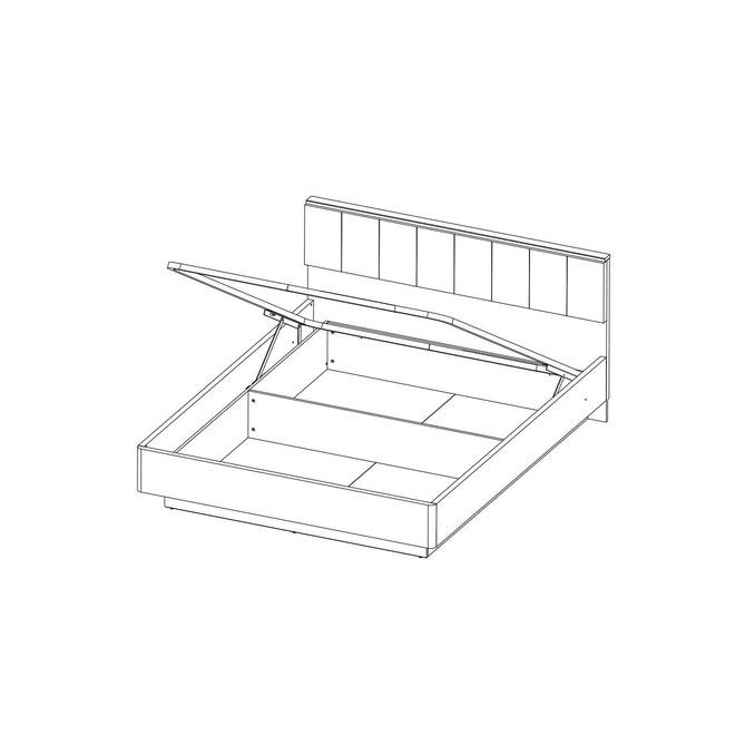 Кровать «Джаггер» 160 М с подъемником и мягким изголовьем