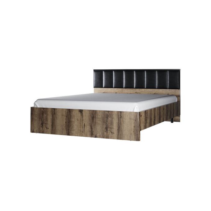 Кровать  «Джаггер» 160 М двуспальная с мягким изголовьем