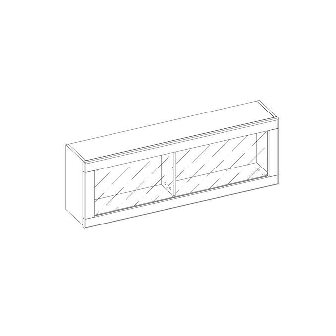 Полка навесная «Джаз» 1V с витриной