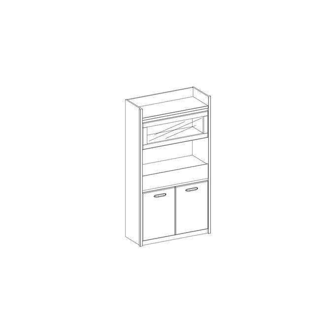 Шкаф «Джаз» 1V2D1S с витриной