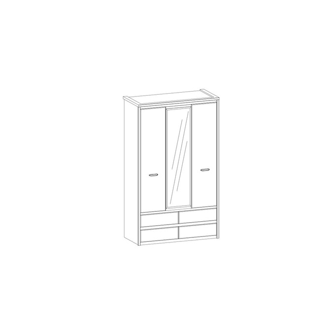 Шкаф «Джаз» 3DG4S Z трехстворчатый с зеркалом