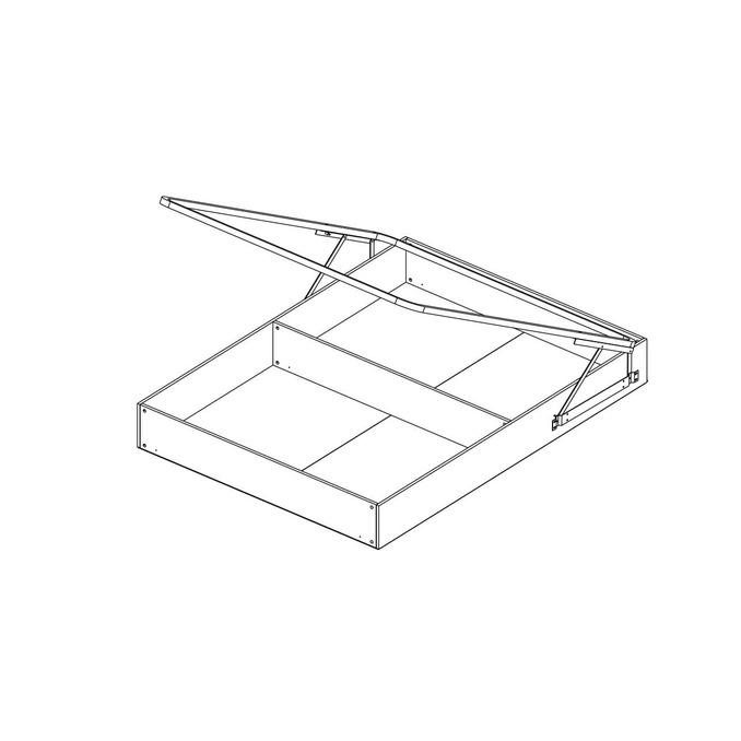 Кровать «Джаз» 140 P полуторная с полками и подъемником