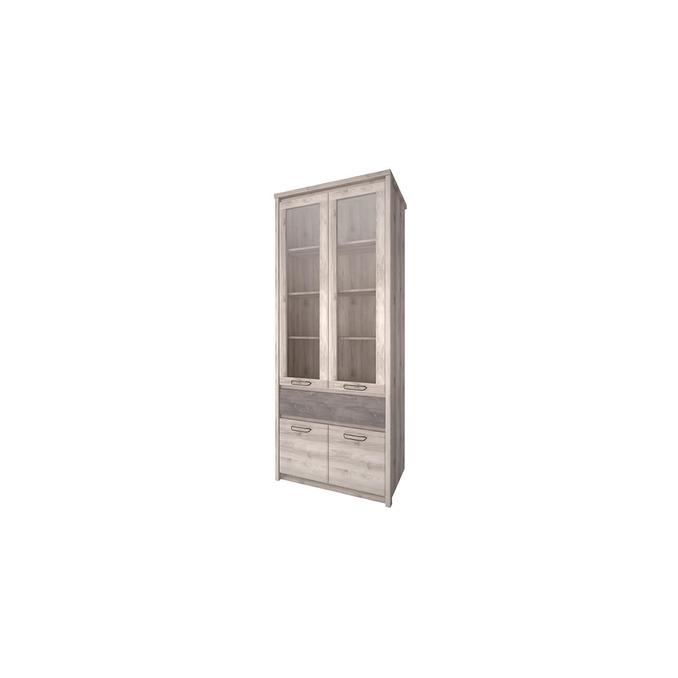 Шкаф «Джаз» 2V2D1S с витриной