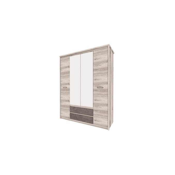 Шкаф «Джаз» четырехстворчатый 4DG2S Z с зеркалом