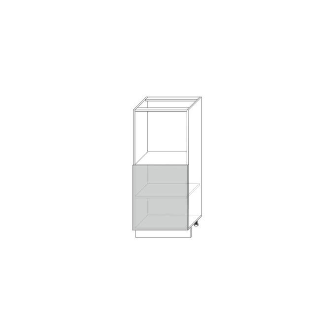 Шкаф напольный «Авеню» 1DN белый/светло-серый сатин