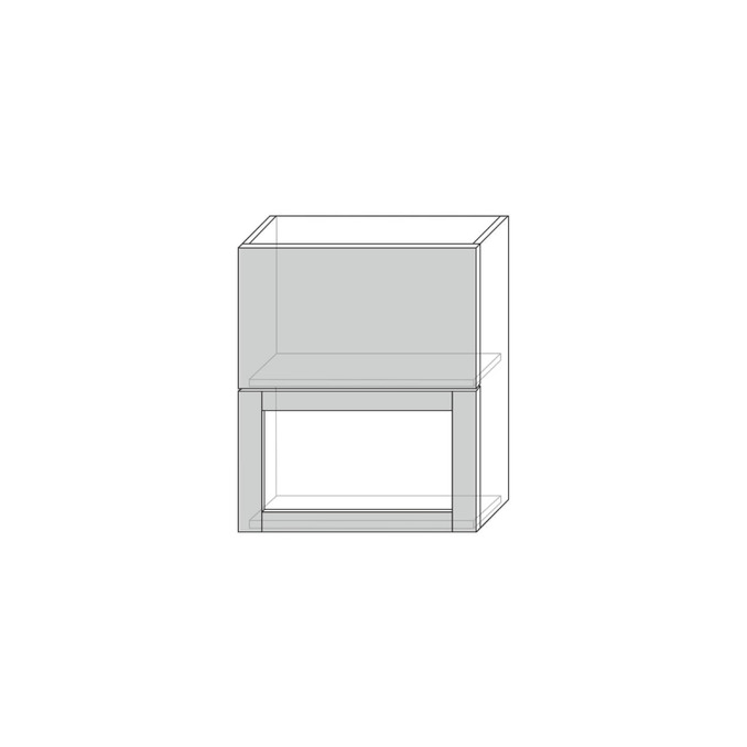 Шкаф настенный «Авеню» 1V1DG/50-29-2 белый/светло-серый сатин