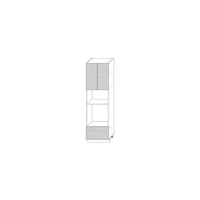 Шкаф пенал «Гранд» 2D1S белый/дуб полярный