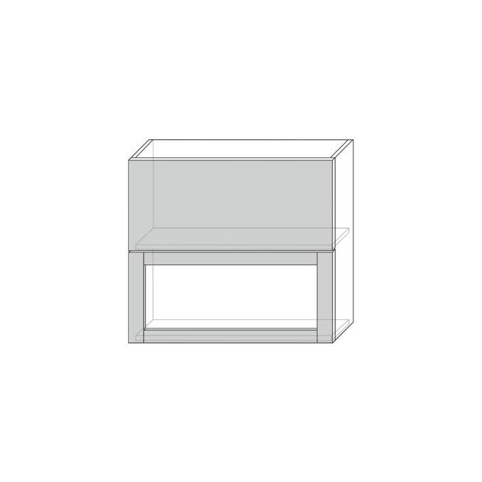 Шкаф настенный «Авеню» 1V1DG/80-29-2 белый/светло-серый сатин