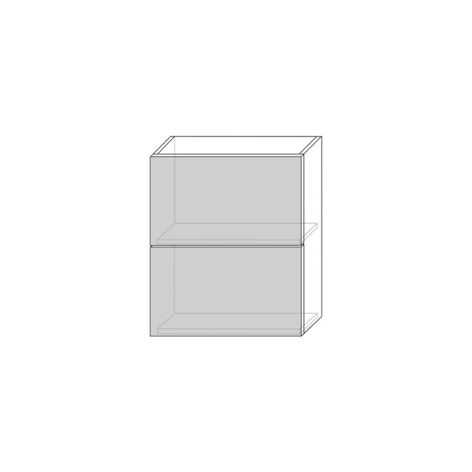 Шкаф «Бостон» настенный 2DG/60-29 серый/ваниль