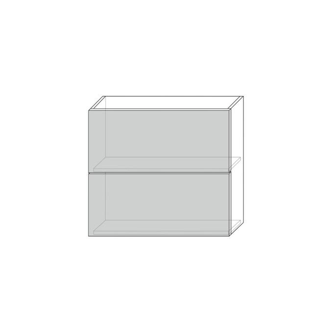 Шкаф «Бостон» настенный 2DG/80-29 серый/ваниль